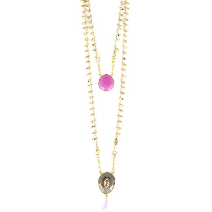 SCAPULAIRE SERTI NECKLACE SILV - Jewelry