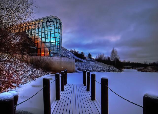 Arktikum museum, Rovaniemi, Finland. I visited this amazing structure in the Arctic Circle.
