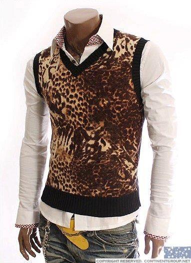 Леопардовая мужская рубашка