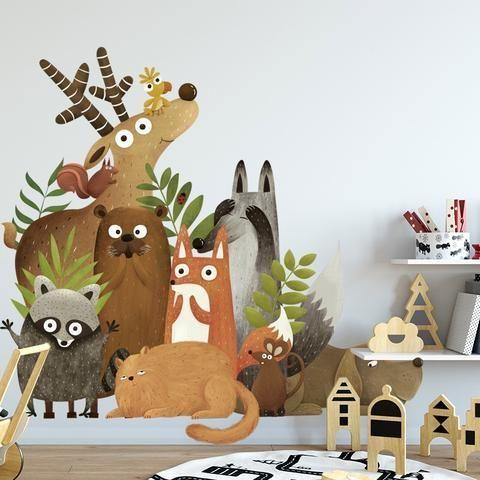 Tiere Wandaufkleber für Kinderzimmer,  #kinderzimmer #tiere #wandaufkleber