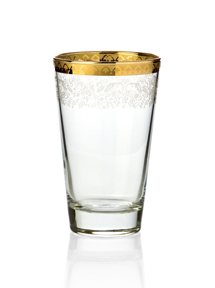 Bridal Gold Meşrubat Bardağı / Drinking Glass #bernardo #tabledesign #glass #gold