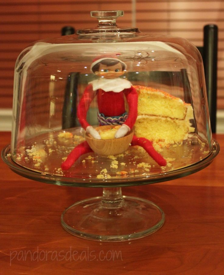 Elf on the Shelf: Elves like birthday cake too!