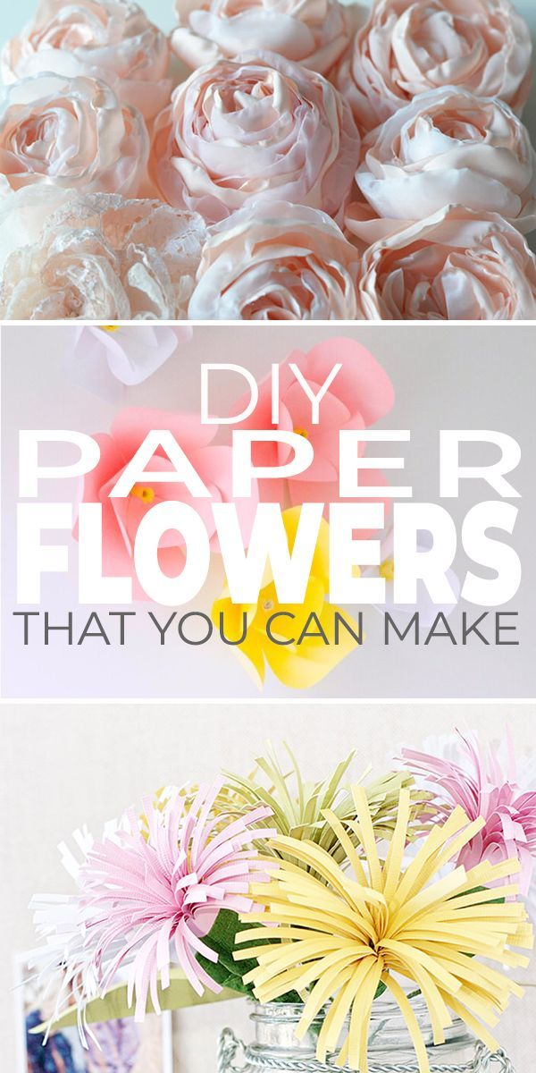 Diy Paper Flowers You Can Make Paper Crafts Paper Flowers Diy