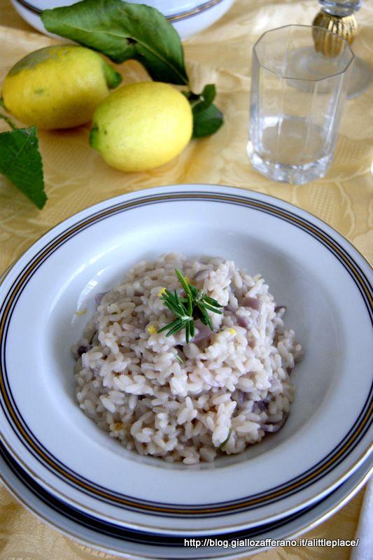 risotto limone e rosmarino