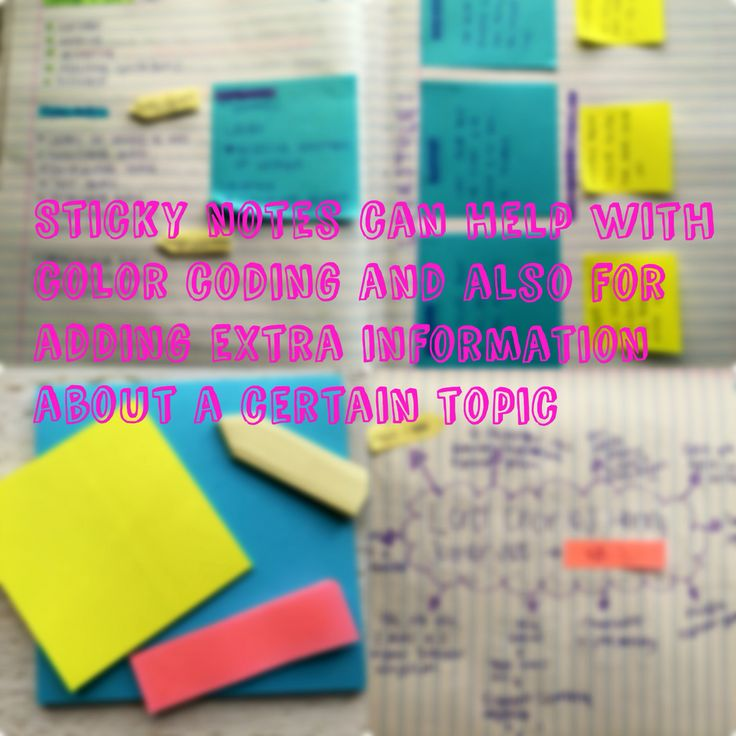 Only use sticky notes if it makes you comfortable with your studies.