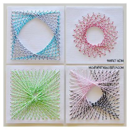 string art with bakers twine