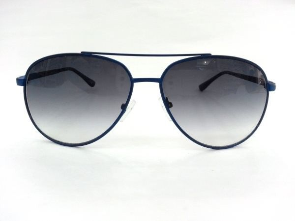 Aviator Medium Blue Metal Sunglasses