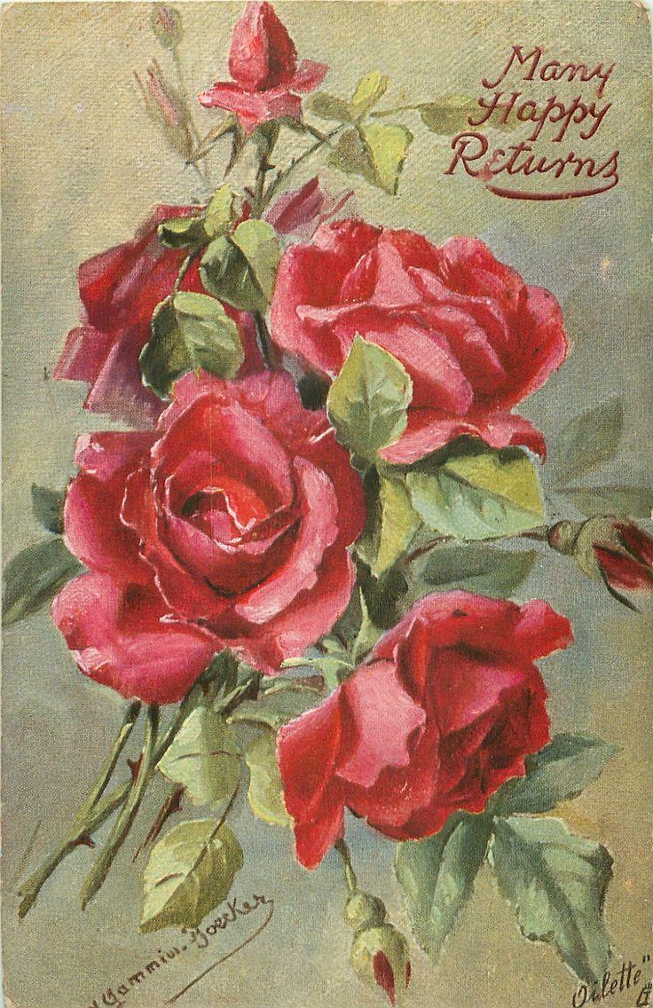 время открытка с днем рождения ретро розы приписывалась особое значение