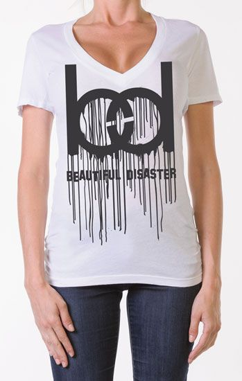 Dripping in BD Womens V Neck Tee|SubCulture Clothing Store