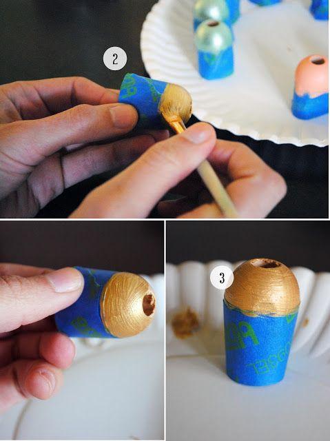 Wooden beads tutorial