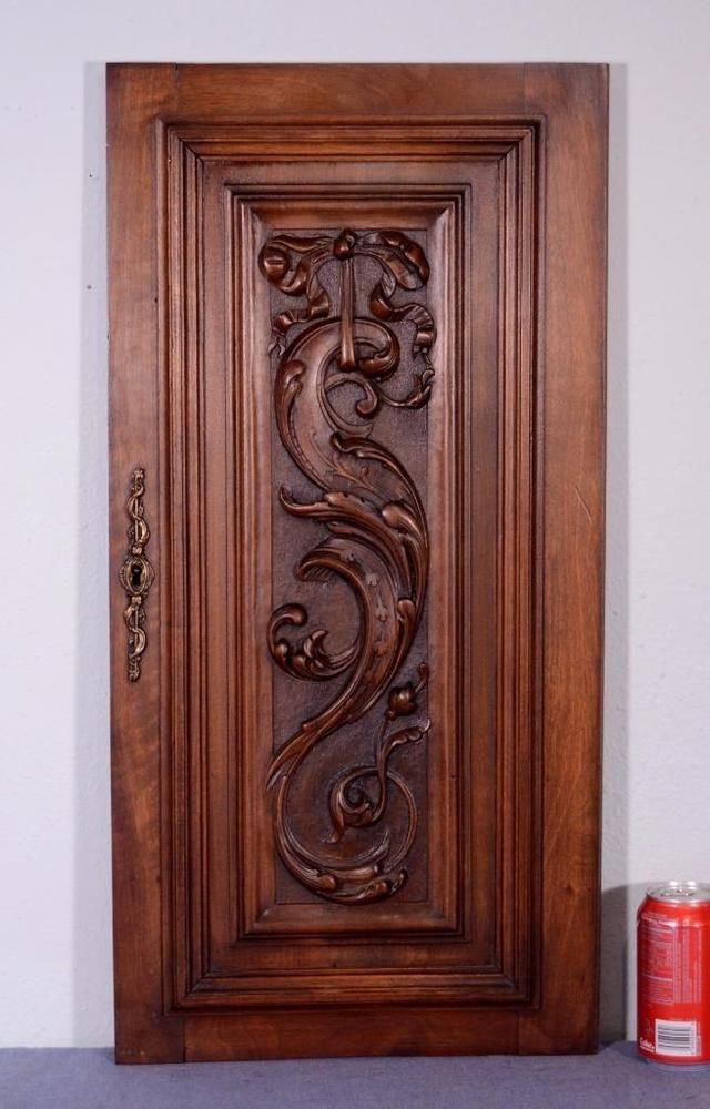 French Antique Louis XVI Panel/Door in Solid Walnut Wood (K)