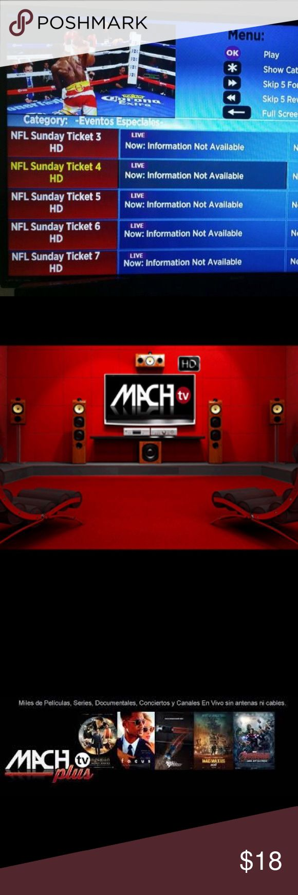 Machtv Plus Live TV & Sports Channels Access more than 100 Live TV Channels with your Roku and MachTV. roku Other