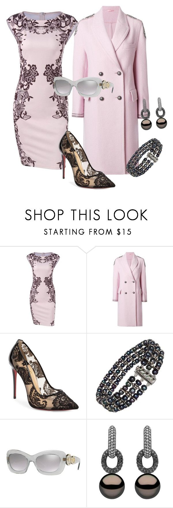 """""""Untitled #676"""" by joyce-kemp ❤ liked on Polyvore featuring Ermanno Scervino, Christian Louboutin, Marina J., Versace and Yoko London"""