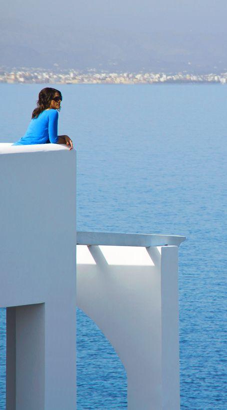 Admiring the Cretan Sea! - view from villa Chrissi in Tersanas, Chania, Crete