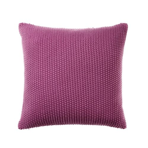 Beautiful bold Orchidwith knitted cotton for a luxurious, stylish cushion for the living room or bedroom