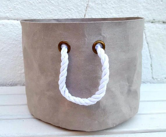 WATERPROOF PAPER POT Round Planter Eyelets Pure Natural Cotton