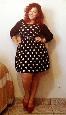Curvy Fashionista Black Polka Dot Dress Dots Dresses Curvy