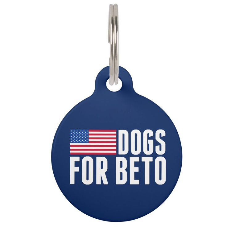 Dogs for Beto O'Rourke 2018 Pet Id Tag