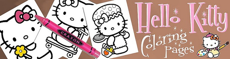 Hello Kitty printables!! coloring pages, invites, all free to print!