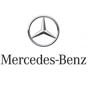 @Grandparentscom Mercedes-Benz The Mercedes-Benz logo almost looks like a peace sign or an upside down steering wheel. In actuality, the shapes that make up the logo symbolize a rich story of post-war history. Mercedes-Benz is the product of a merger between Daimler-Motoren-Gesellschaft (DMG) and Benz Patent Motorwagen after World War I. The new logo encompassed the DMG three pointed star and the Benz circle. The three-pointed star was created by DMG's founder Daimler to signify prosperity.
