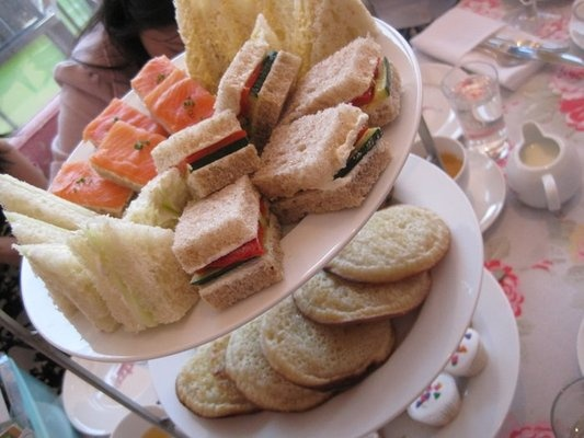 Tea Sandwiches and Crumpets!!