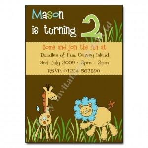 Zoo Children's Party Invitation