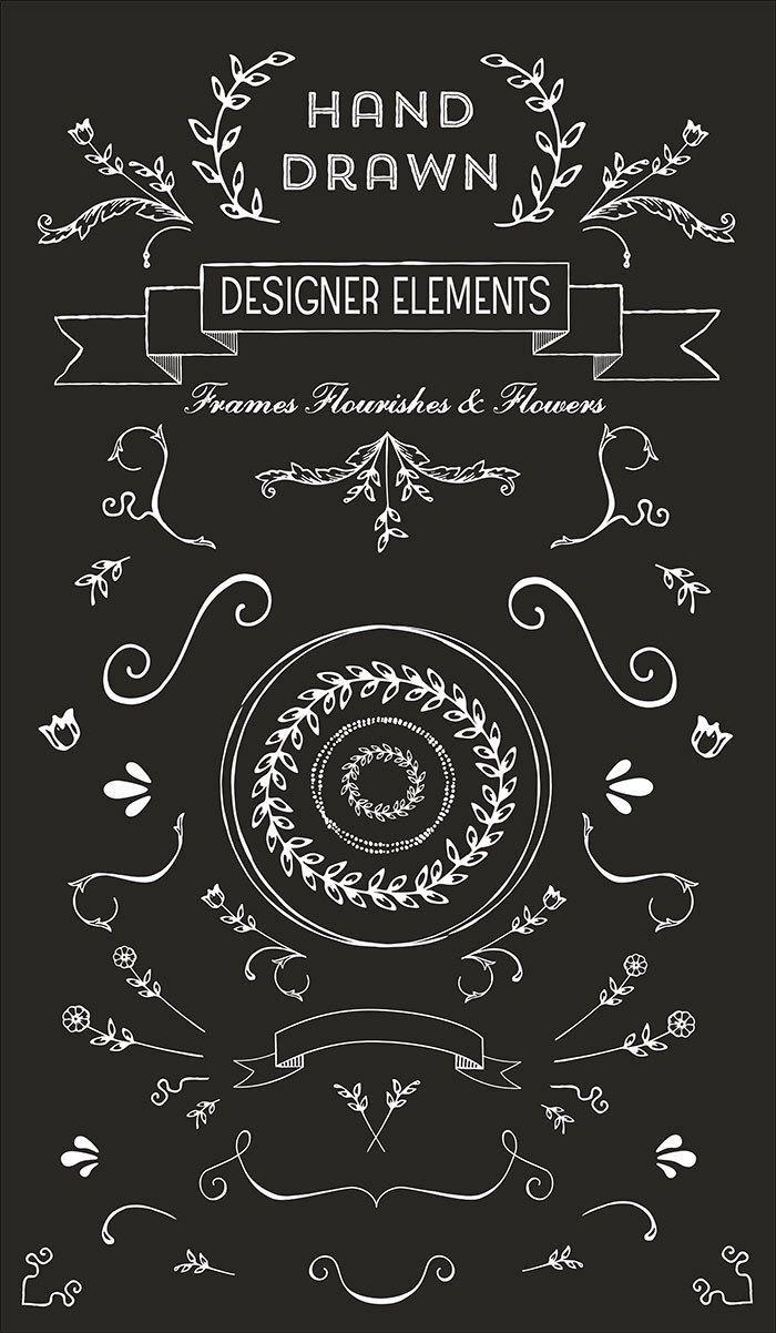 hand drawn designer elements もっと見る