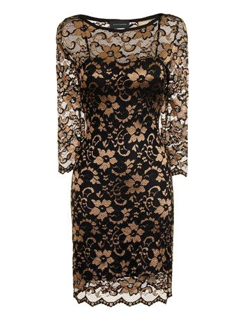 Black and gold #lace dress - View All Clothing Brands - Brands