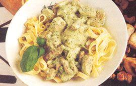 pasta med fläskfilé och citron