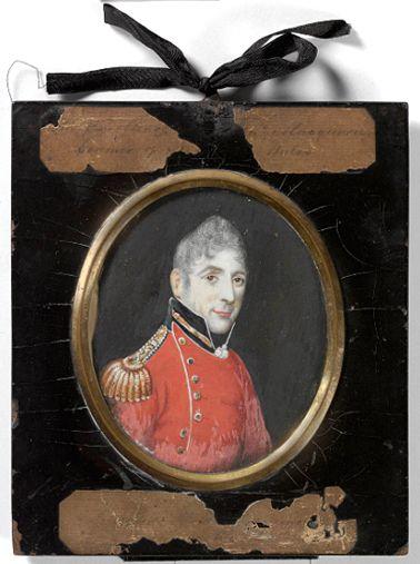 Lachlan Macquarie miniature portrait, 1810 MIN 71 SLNSW