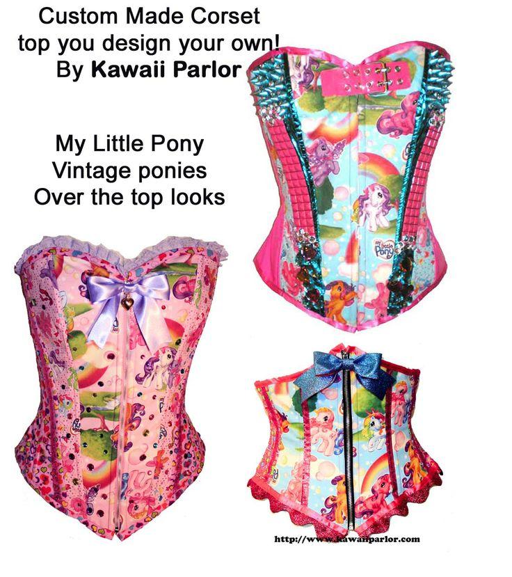 my little pony corset you design your own. Black Bedroom Furniture Sets. Home Design Ideas