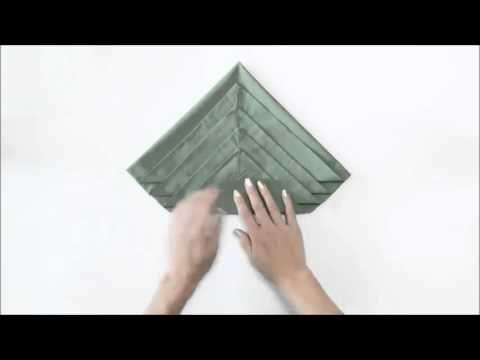 Елочка из салфетки - YouTube