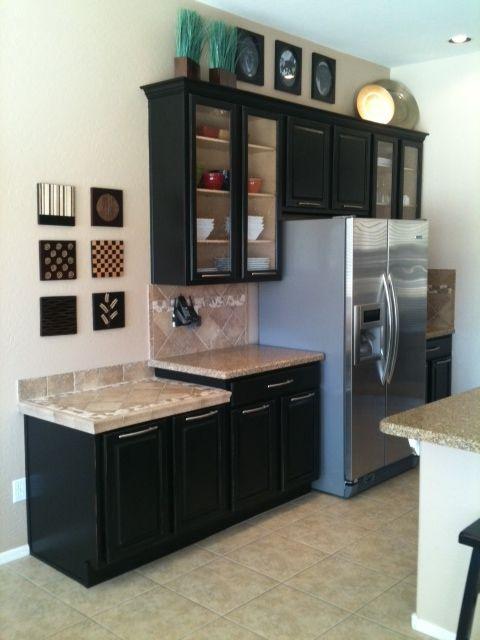 17 Best Images About Dark Cabinet Glass Doors On Pinterest Dark Wood Kitchens Grey Cabinets