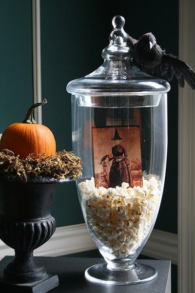 apothecary jar fillers ideas for halloween and fall
