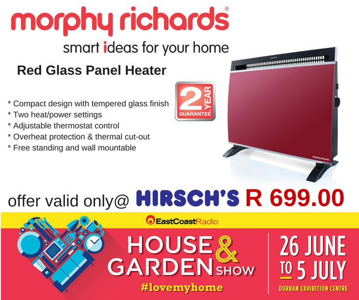 Red Glass Panel Heater