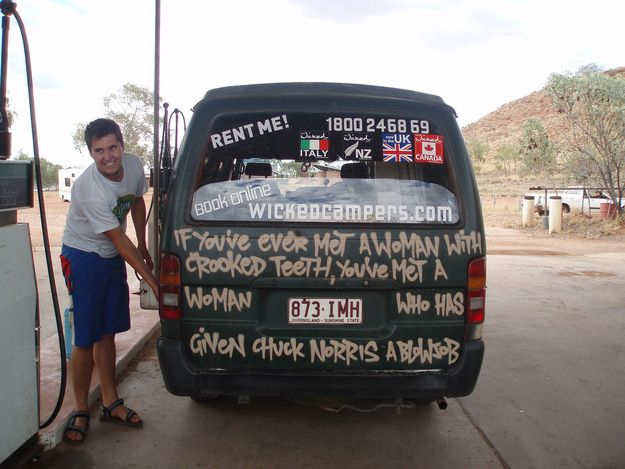 Wicked Campers, New Zealand. | 10 More Great/Terrible Local Business Slogans