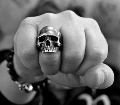Keith Richards' skull ring...if someone buys me one of these I will seriously be your best friend.