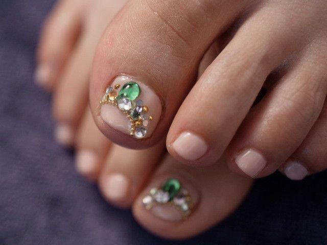 ☆新色ブルーグリーン×アンティークゴールド☆ の画像|パリのネイルサロン Bijoux nails Paris