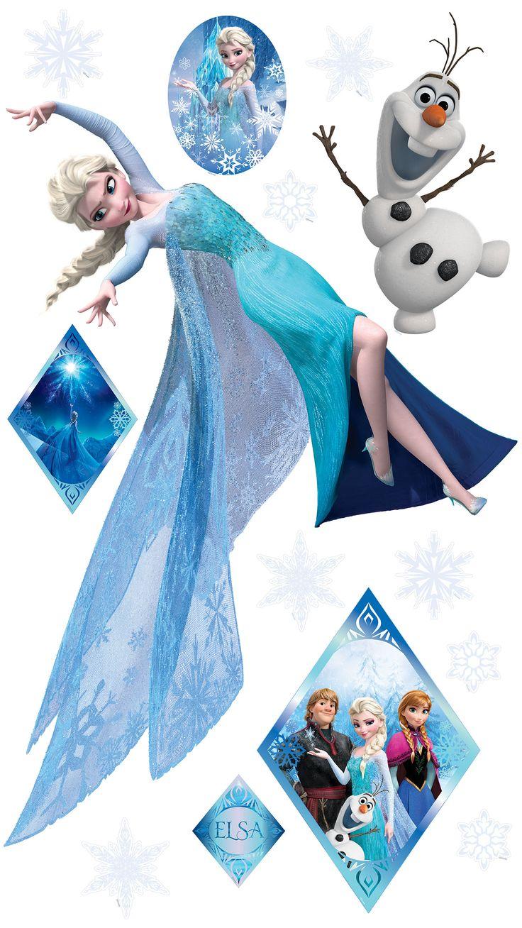 Disney frozen wall stencils - Elsa Muursticker Xxl Is 120 Cm Breed En 107 Cm Hoog Olaf Is 34 X Disney Frozenolafstickers