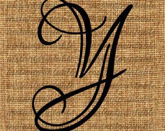 Monogramm Initial Letter J Brief-Clip-Art von InstantPrintable
