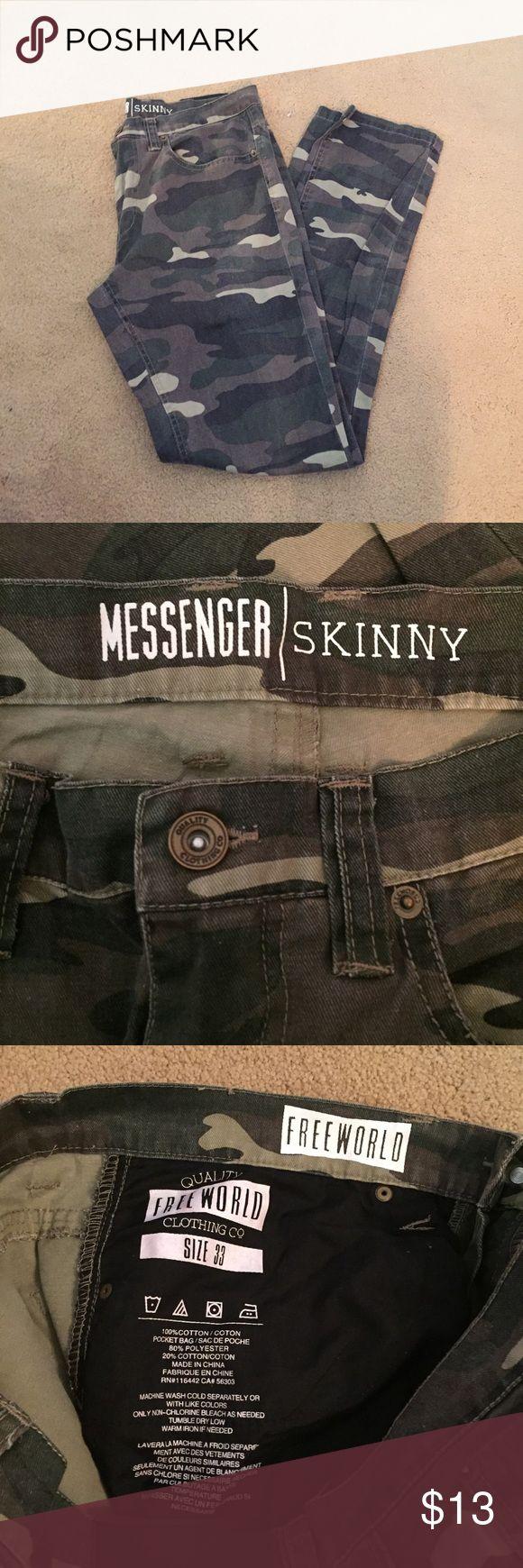 Men's camo jeans Men's messenger camo jeans size 33 / straight leg Jeans Straight