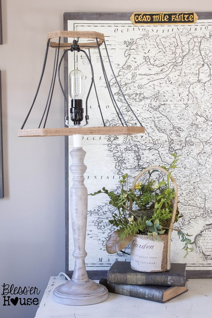 DIY Industrial Farmhouse Lamp (inspired by Joanna Gaines on Fixer Upper) | Bless'er House