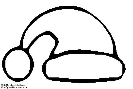 Santa claus hat coloring page for Santa claus hat coloring page