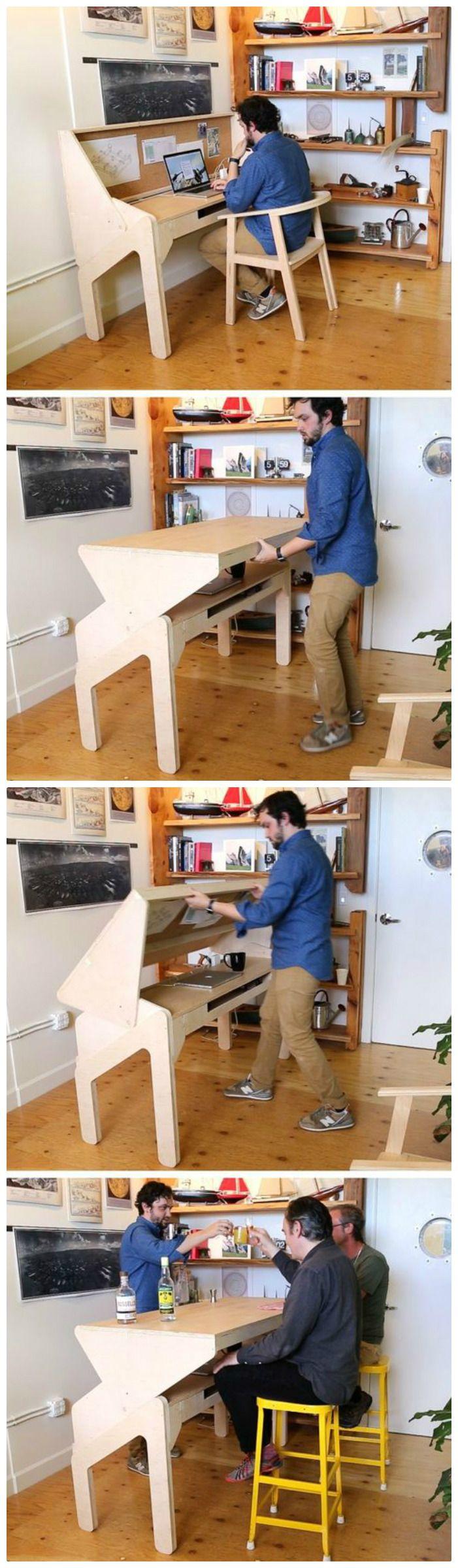 Build your own transforming bar desk