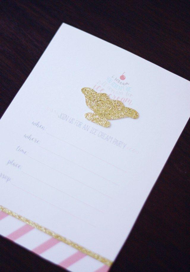 Ice Cream Printables – Invitations & Print