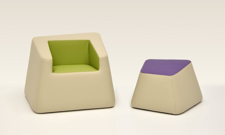 Bon Bon armchair and footstool in the colours of nature and flowers, matching to the #naturalmentechic module for hospitality. Design: Daniele Menichini