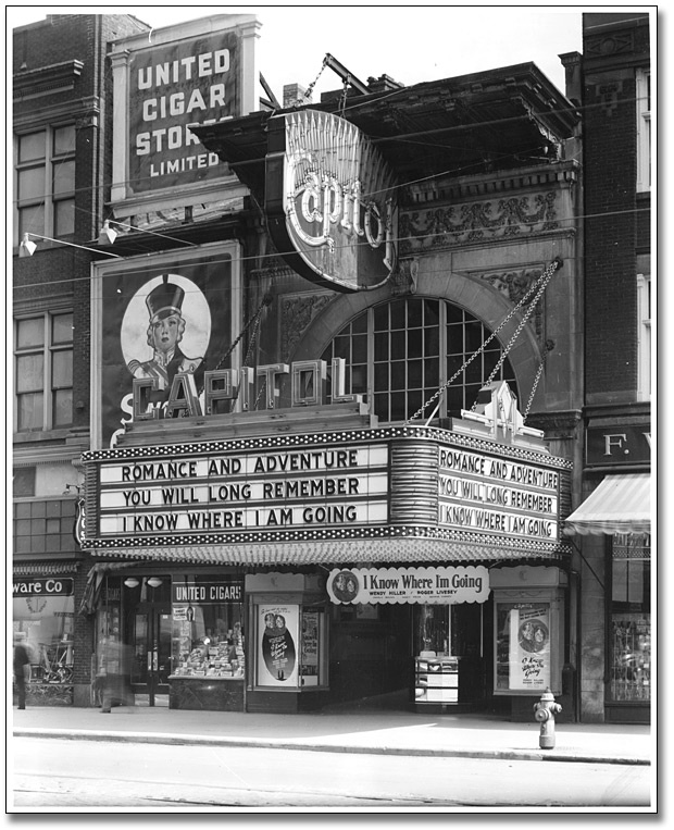 Capitol Theatre, 1945...too bad it is gone hamilton ont