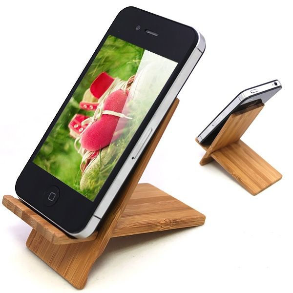 Wooden Stand   iPhone Cell Phones