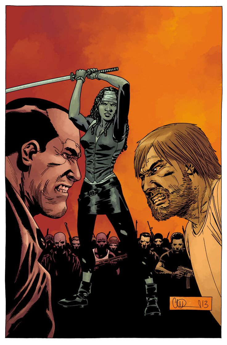 Cover Art For The Walking Dead Negan Rick And Michone