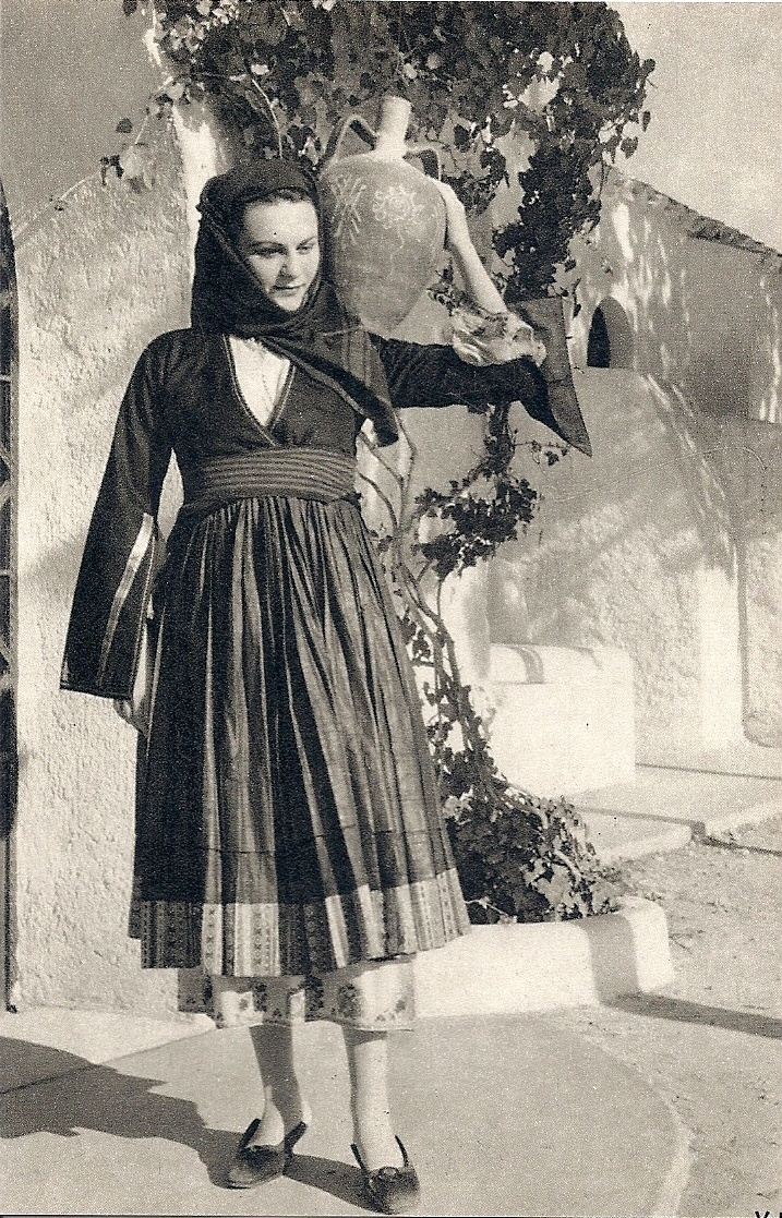 Greece, Greek National Dress, Island of Skyros, Old postcard | eBay